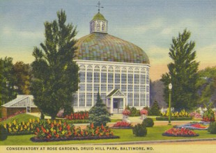 Photo: The Conservatory was constructed in the late 19th century. (Postcard date unknown)