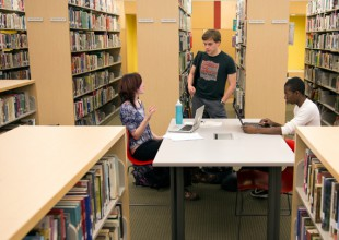 Photo: Home to over 47,000 books, videos, and other materials, the <strong>Park School Library </strong>inspires a love of reading in the Lower School and provides resources for academic research in the Middle and Upper Schools.