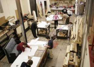 Photo: The sets and props for theater productions are built in the Scene Shop, adjacent to both the Meyerhoff and Macks-Fidler Theaters.
