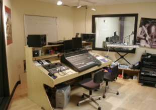 Photo: In the Digital Recording Studio, Upper School students gain audio engineering experience.
