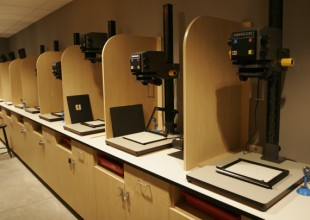 Photo: The Randolph Wolff '62 Photography Studio includes 18 enlargers.