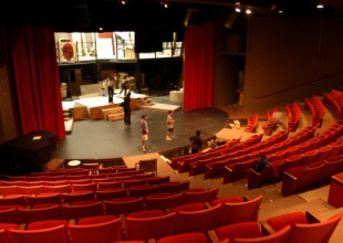 Photo: Upper School students typically mount major productions in the Harvey M. Meyerhoff Theater.