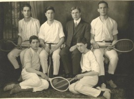 Eugene Randolph Smith with Tennis Team