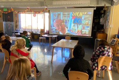 News: Author and Illustrator James Yang Visits Virtually with Lower School