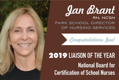 News: Park's Director of Nursing Services Jan Brant Named 2019 Liaison of the Year by NBCSN