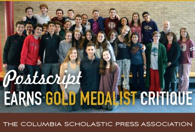 Featured News: 2017-18 <em>Postscript</em> Receives Gold Medalist Critique from Columbia Scholastic Press Association