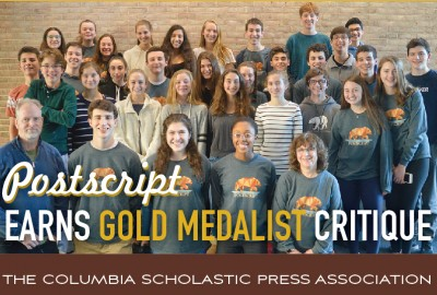 Featured News: 2018-19 Postscript Receives Gold Medalist Critique from Columbia Scholastic Press Association