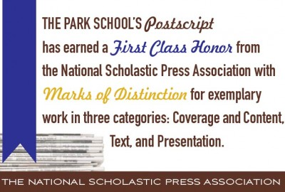 News: Postscript Awarded First Class Honor from The National Scholastic Press Association
