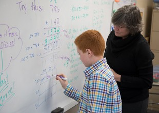 Photo: Park's Middle School mathematics curriculum is an integrated program that teaches students to view math in a holistic manner. Numbers, geometry, algebra, graphing, probability, statistics, trigonometry, spreadsheets, and basic programming are the major mathematical fields studied during grades six through eight.