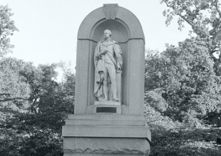 Photo: The statue of George Washington, originally commissioned for the Washington Building in downtown Baltimore in 1858, was moved to the Park's Madison Avenue entrance at Swann Drive in the late 19th century.