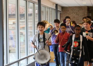Photo: Students are given opportunities to experience the challenge and joy of making music with others.