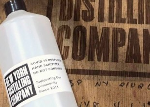 Photo: Park alumnus Allen Katz '89, co-owner of New York Distilling Company, and his team are producing WHO-approved hand sanitizer and delivering it to New York City's first responders.
