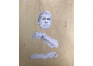 "Photo: ""Clooney 'woah'"" - Graphite, wood, print by Anton Shtarkman"