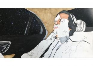 "Photo: ""Intergalactic McConaughey"" - Graphite, marker by Anton Shtarkman"