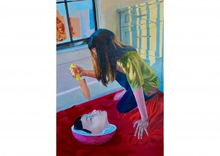 """Photo: """"Self Inflicted"""" - Oil painting by Ariel Hong"""