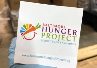 Photo: Baltimore Hunger Project, founded by Lynne Berkowitz Kahn '87, continues to support food insecure children in Baltimore, expanding the number of kids they serve to help families navigate through this crisis.