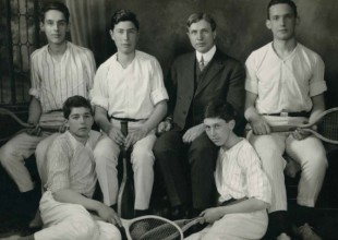 Photo: 1914: Headmaster Eugene Randolph Smith coached boys' tennis on the public courts in Druid Hill Park.
