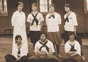 Photo: 1915: Basketball was the first team sport for girls.