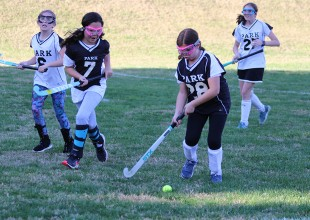 Photo: The primary goal of all Lower School athletics programs is an introduction to team sports and having fun — everyone who wants to participate is welcome! The focus is on building fundamental skills and understanding the basic elements of the game. Interscholastic teams may include Soccer, Field Hockey, and Lacrosse.