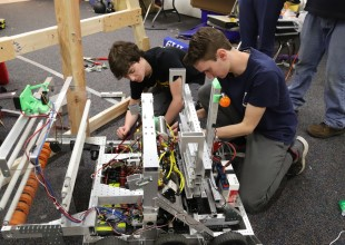 Photo: Team 1719, Park's FIRST robotics team, was founded in 2006. The team spends six weeks in January and February creating a robot to compete against 2,300 other teams. Students design, build, program, test, and refine their robot with the help of volunteer mentors.