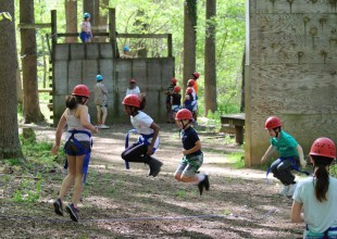 Photo: Our Appalachian Challenge course is one of the largest in the mid-Atlantic region and is nationally recognized.