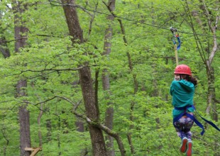Photo: Our Appalachian Challenge course is one of the largest in the mid-Atlantic region and is nationally recognized. When initiated in 1974, Park's program was one of 12 in the country.