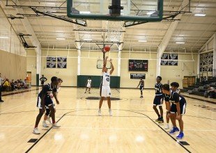Photo: Park has five competition-length basketball courts, allowing teams to have their own spaces to practice.