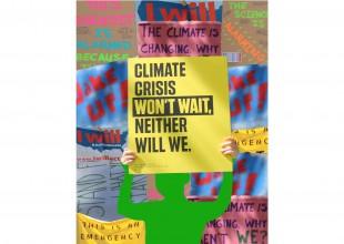 "Photo: ""Warning: Climate Change Ahead"" - 3D digital collage by Lexi Bushrod"