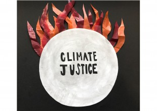 """Photo: """"Climate Justice NOW!!"""" - Mixed media by Mora Perl"""