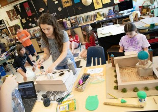 Photo: The 5th Grade theme curriculum focuses on the acquisition of social and cultural understanding of the medieval world through authentic research and the application of multiple disciplines, including engineering.