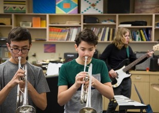 Photo: The music department is committed to making music a part of students' daily lives. By providing a variety of opportunities and individual and shared experiences, we strive to foster a lifetime appreciation and engagement in music.