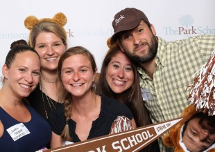 Photo: Toast to the Brown and White Photo Booth Fun
