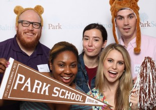 Photo: Toast to the Brown & White Photo Booth Fun