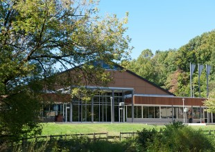 Photo: The Athletic Center is located on the edge of Park's pond.