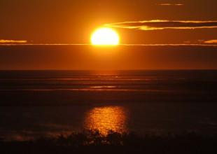 Photo: Sunrise at Nester 1. Photo by J. Gorman.