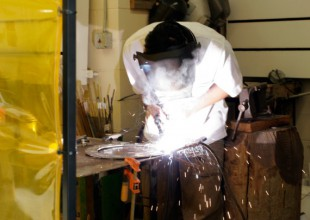 Photo: Independent study opportunities are offered in advanced metal work.