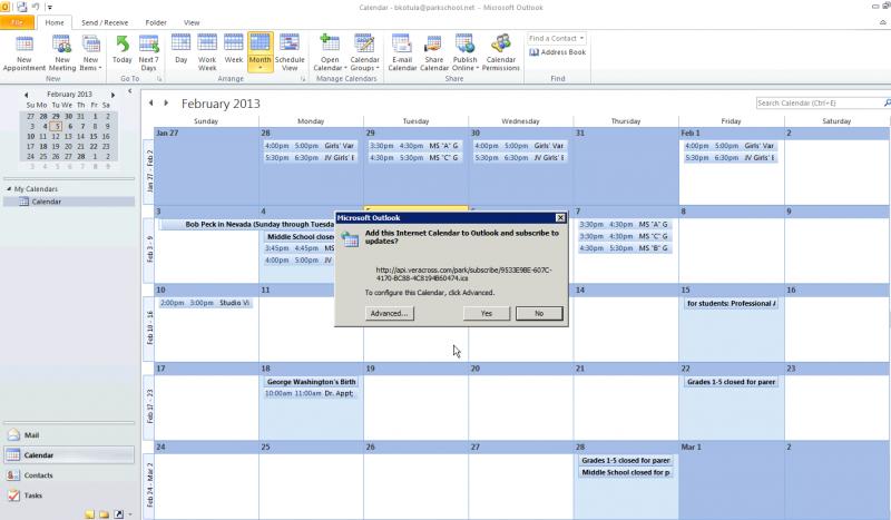 Outlook Calendar